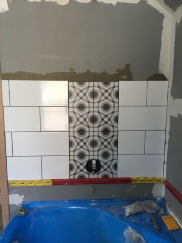 Custom Tile in Master Bath