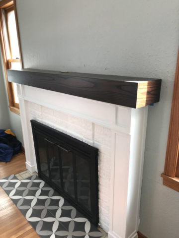 Custom Detail on the Fireplace and Tile