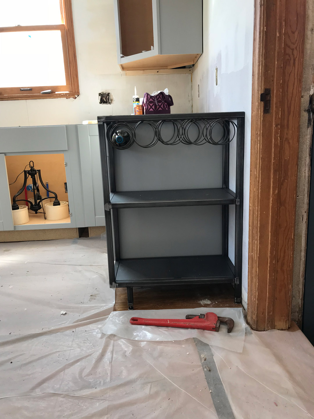 Custom Metal Shelf and Wine Rack