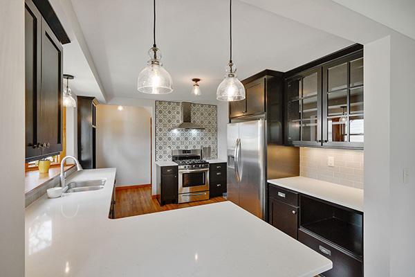 6628 Oliver Ave So Richfield MN Staging Black Kitchen After Skye McLoughlin