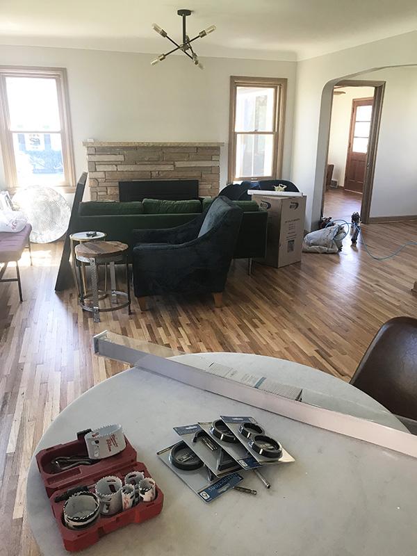 6628 Oliver Ave So Richfield MN Staging Livingroom Before Skye McLoughlin