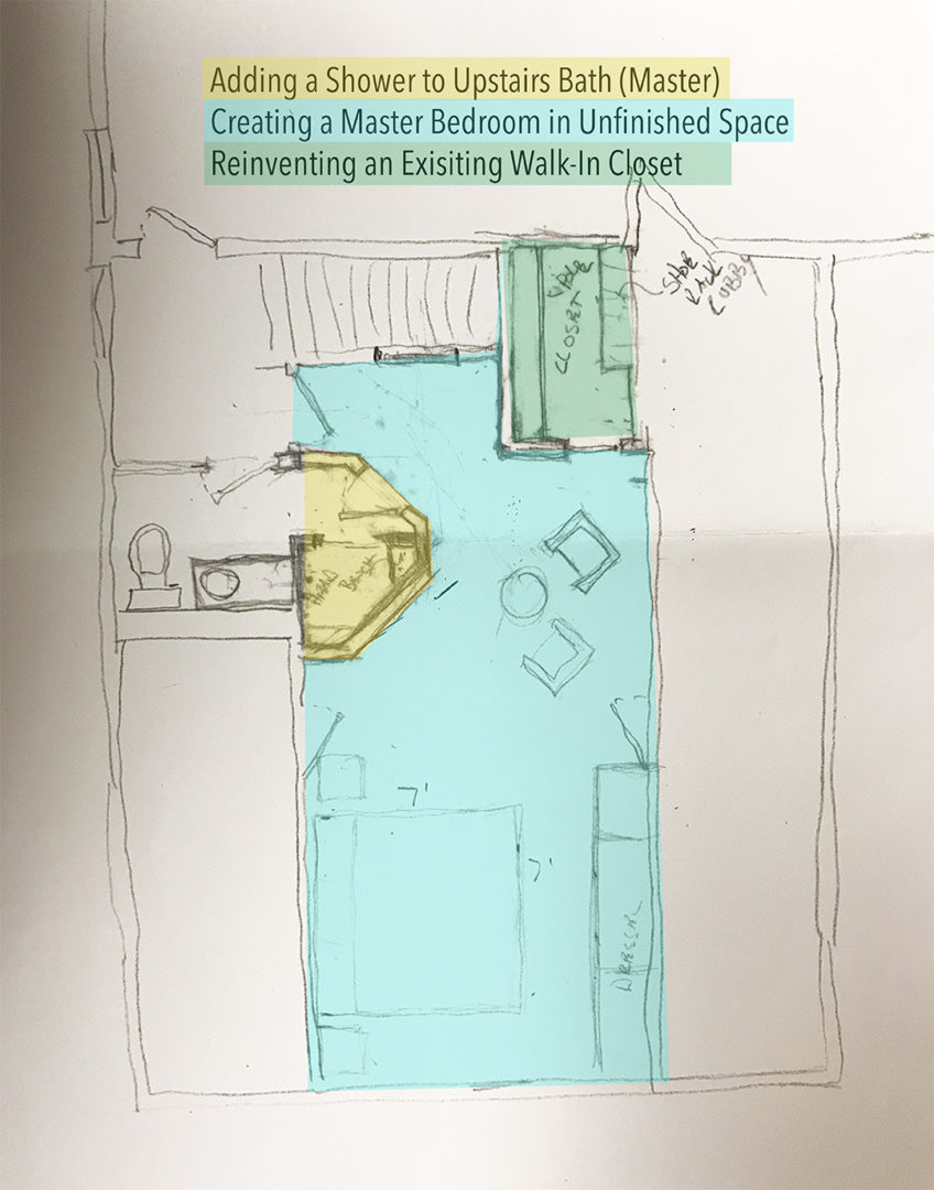 drawing of master bed-bath remodel